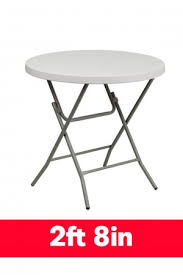 2ft 8in round plastic folding table 80cm