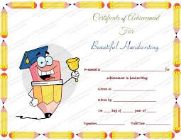 Free Award Certificate Templates For Students Free Printable Beautiful Handwriting Award Certificate Template
