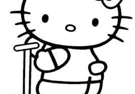 Hello Kitty Da Colorare Per Bambini Con Disegno Di Hello Kitty Con