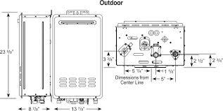 rheem indoor tankless water heater. rheem condensing tankless water heater for 2-3 bathroom homes indoor