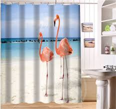free beautiful flamingo custom shower curtain more size waterproof fabric shower curtain for bathroom sq0427