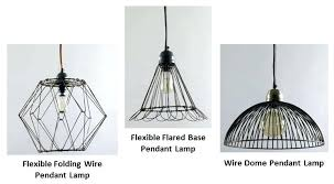 wire pendant light wire pendant lighting adds visual interest artistic touch to kitchen diy wire basket wire pendant light