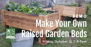 make your own raised garden bed the