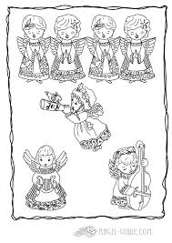 Angel Christmas Coloring Pages Of Choir