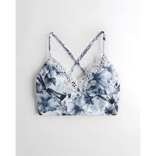 Hollister Lace Trim Longline Triangle Bikini Top 28