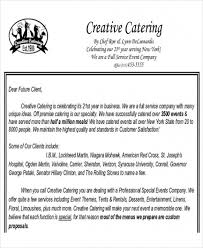Catering Proposal Letter Mesmerizing Free Download Sample 44 Sample Catering Proposal Letters Pdf Doc