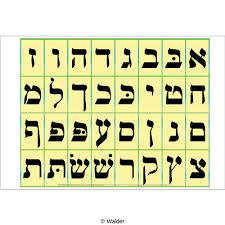 Alef Beis Chart Walder Education