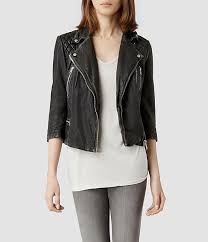 half sleeves and cropped to wear year round all saints cropped cargo leather biker jacket