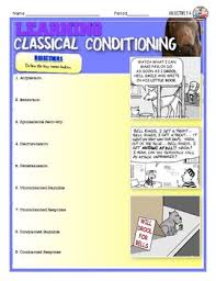 Classical Conditioning In The Classroom Learning And Classical Conditioning In Psychology Activity