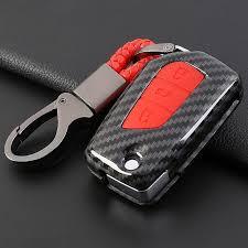 <b>2019 Carbon fiber silicone</b> Flip Folding Car Key Case Cover For ...