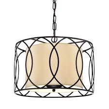 merga 3 light orb wrought iron drum cream white shade chandelier ceilin fixture