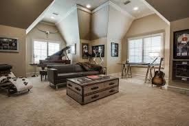 Captivating Furniiture For Music Room Ideas With Dark Sofa also Barn Coffee  Table