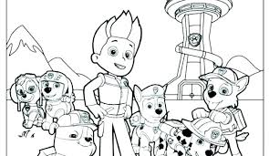 Paw Patrol Coloring Sheets Fabulous Paw Patrol Coloring Pages