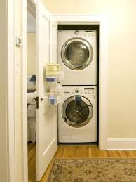 closet washer and dryer small standard dimensions minimum size for stackable