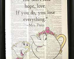 Beauty And The Beast Mrs Potts Quotes Best of Potts Quote Etsy
