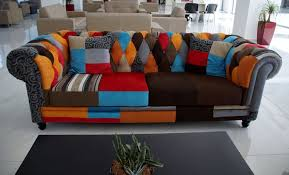 orange black red and brown couch free