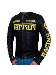 Motorbike leather motorbike jacket motorcycle jacket racing biker all size. Buy Online Mens Ferrari Leather Motorcycle Jacket Black