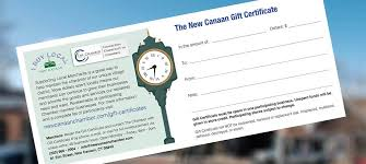 Business Gift Cards With Logo Gift Certificates New Canaan Chamber