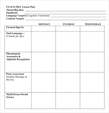 Lesson Plans Template Free Free 10 Sample Preschool Lesson Plans In Google Docs Ms