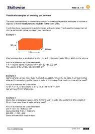 cubic meter maths great for beginners volume worksheet math is fun