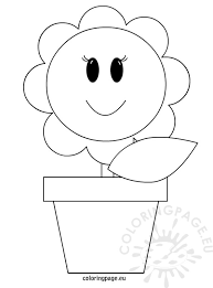Small Picture Vase with flower coloring page