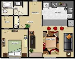 One Bedroom Apartment Plans And Designs Studio Apartment Floor - Bedroom floor plan designer