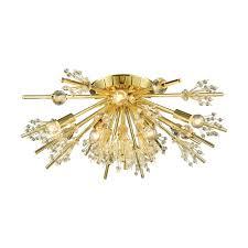 brighter homes lighting. Starburst 8 Light Semi Flush In Polished Gold Brighter Homes Lighting G