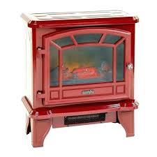 red electric fireplace heater fireplaces infrared quartz stove watt faux duraflame fire