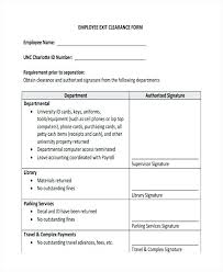 Employee Clearance Form Classy Unique Pics Employee Exit Clearance Form Template Checklist Forms