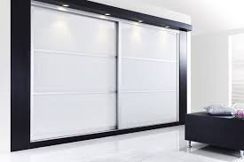 white glass panel sliding doors