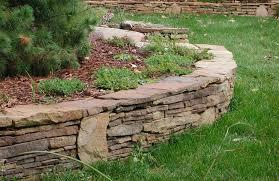 stacked stone retaining wall stone