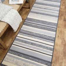 zlatkus stripes rubber backed gray area rug