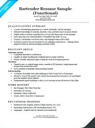 Download Sample Bartender Resume Template With Picture