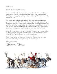 Official Letter From Santa Template Dawsat Co