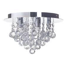 flush ceiling light g9 galaxy chrome