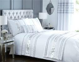 bedding grey silver sparkle shocking glitter enchanting bright blue sets duvet cover queen set