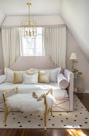 Rachel Cannon Limited Interiors   Sweet teen bedroom featuring a custom  made queen-sized daybed