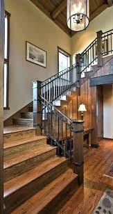 rustic stair railing staircase ideas deck outdoor
