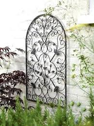 exterior wall art metal decorative metal arch wall art sculpture decoration for home garden large outdoor