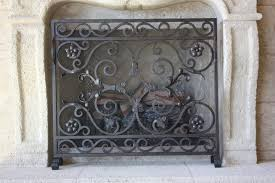 hand forged fireplace screen. cozy custom wrought iron fireplace screens 4 screen leaping new ideas hand forged