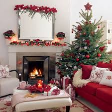 ... Christmas tree with columns of white, red and green ornaments View ...