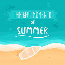 Premium Vector | The best moments of summer poster