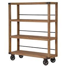 ... Wood Shelving Unit Furniture For Home Indoor Wooden Material  Minimallist Elegant Manhattan Wood Iron ...