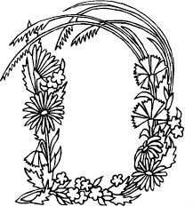 Small Picture Alphabet Flower D Coloring Pages Free Printable Coloring Pages