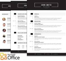 trendy resumes   creative resume templatessleek resume template