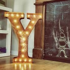 letter lighting. rusty 24 inch letter y marquee light lighting