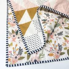 94 best modern baby quilts for sale images on Pinterest | Baby ... & Peach Puzzlecloth Modern Baby Quilt-Wholecloth Baby Girl Quilt-Baby Quilt  Blanket-Floral Adamdwight.com
