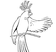 Small Picture Cockatiel with bow tie coloring page Coloringcrewcom