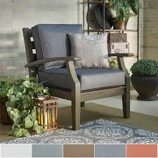 trendy outdoor furniture. Yasawa Grey Modern Outdoor Cushioned Wood Chair INSPIRE Q Oasis Trendy Furniture