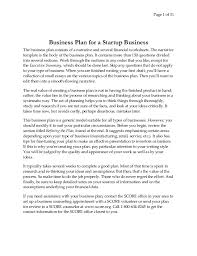 business plan for start up business page 1 of 31 business plan for a startup business the business plan consists of a